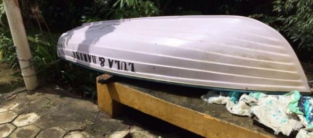 Barco foi encontrado e apreendido no sítio pela PF