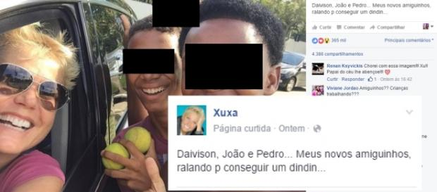 Xuxa causa polêmica nas redes sociais