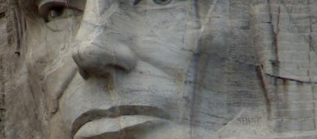 El Presidente Lincoln observa desde el Monte Rush