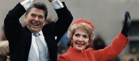 Ronald e Nancy Reagan negli anni '80