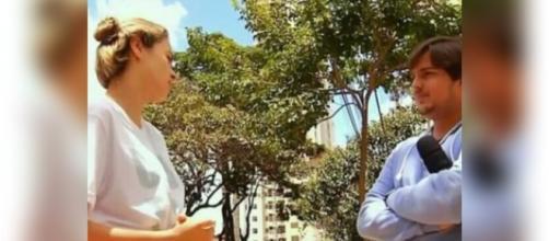 Ana Paula em entrevista para o 'Pânico'