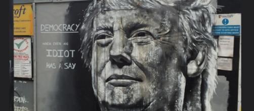 Donald Trump wall art, creative commons via Flickr