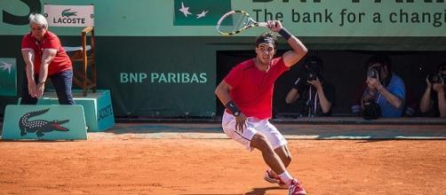 Nadal at Roland Garros in 2012/ Photo:Yann Caradec