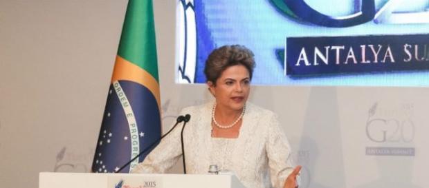 Presidente Dilma Rousseff discursando