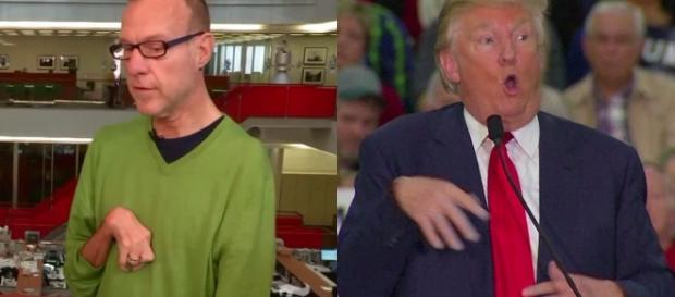Trump burlandose de un minusvalido.