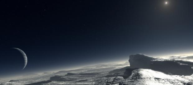 Una ricostruzione del terreno di Plutone