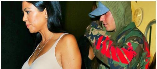 Kourtney Kardashian envolvida com Justin Bieber