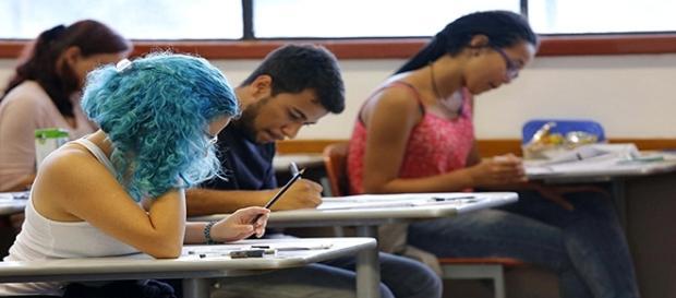Estudantes durante a prova do ENEM