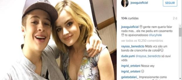 João Guilherme e atriz de 'Pretty Little Liars'