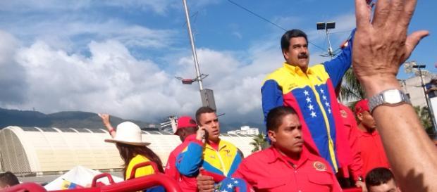 Presidente Nicolás Maduro en el cierre de campaña.