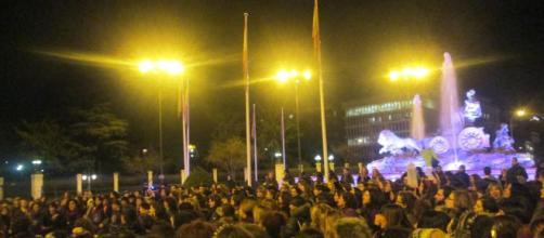 La manifestación llegó hasta cibeles