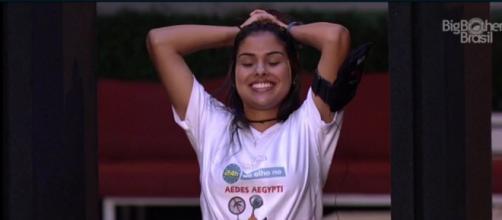 Munik durante prova do líder (Reprodução/Globo)