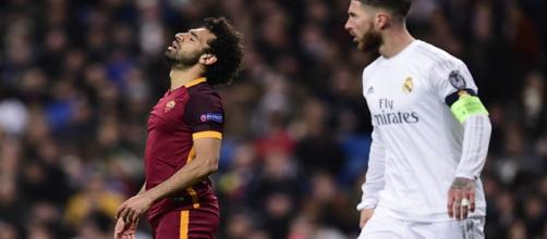 Salah e Sergio Ramos in Real Madrid-Roma 2-0