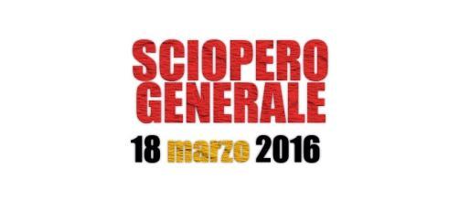 Sciopero generale 18 marzo 2016