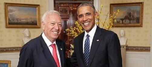 Presidente Obama junto al Ministro Margallo