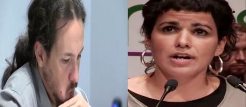 Teresa Rodriguez y Pablo Iglesias