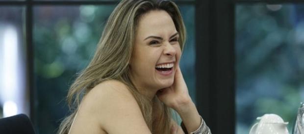 Ana Paula no programa Mais Você (Reprodução)
