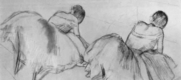 "Degas' ""Two Ballet Dancers Resting"" Creative Commons"