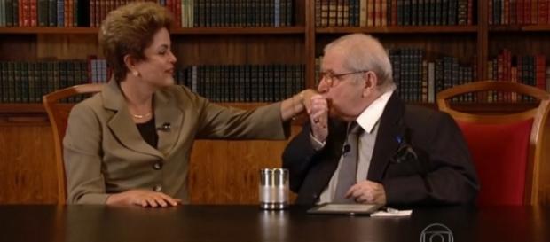 Dima e Jô Soares - Foto/Reprodução: TV Globo