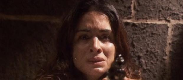 Il Segreto, Ines uccide il padre di Amalia