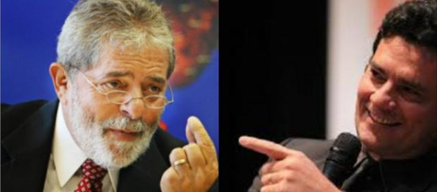 Luiz Inácio Lula da Silva e o juiz federal Sérgio Moro.