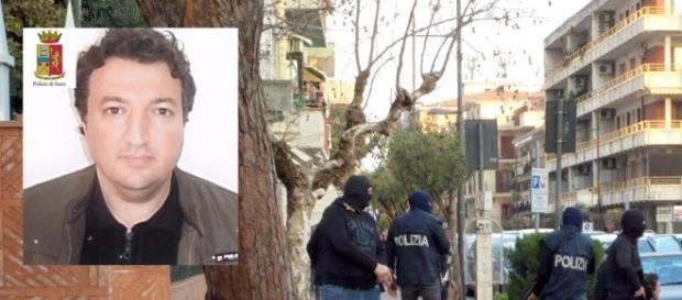 Nella foto l'algerino Ouali e il momento dell'arresto.