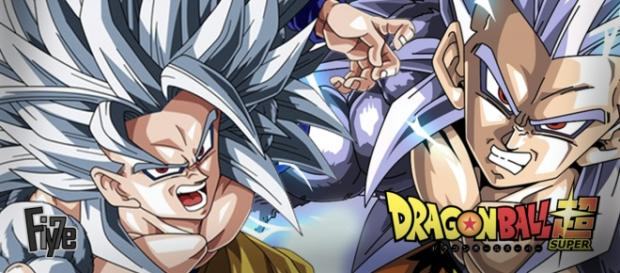 Dragon Ball Super - Goku y Vegeta SSJ Dios Blanco