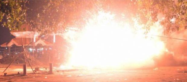 Foto de la explosión de los fuegos artificiales