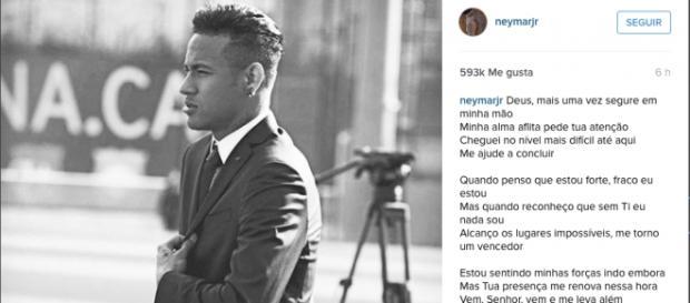 Neymar responde a la filtración de su contrato.