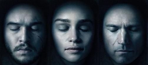 Jon Nieve, Daenerys Targaryen y Jaime Lannister