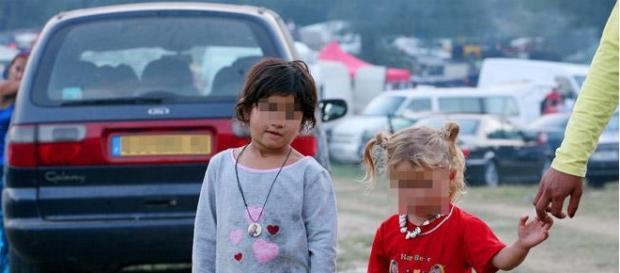 Copiii romi sunt folosiți la cerșit în Madrid