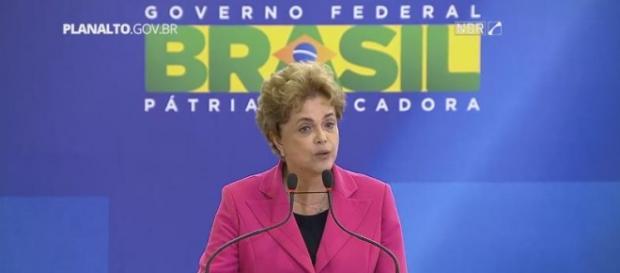 Dilma fala que não irá perder o controle (Foto: Reprodução/Facebook)