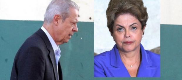 José Dirceu e Dilma Rousseff - Foto/Reprodução