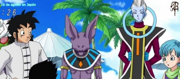 Terror en la fiesta de Bulma- Pela del dios de la destrucción contra Majin Boo