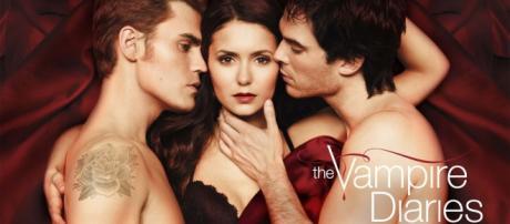 Elena and Stefan and Damon Salvatore.