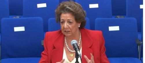 Rita Barberá declarando en el juzgado de Palma por el caso Nóos