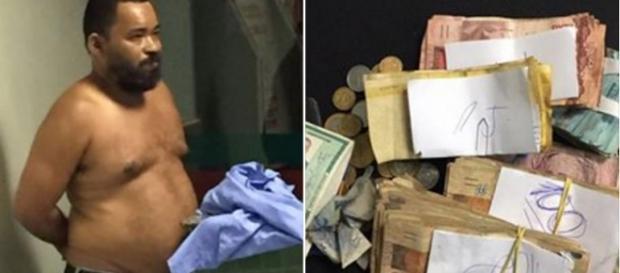 Homem é preso com R$ 16 mil em espécie