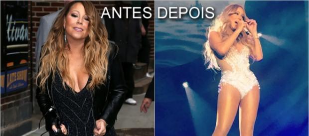 Mariah Carey perdeu muitos kg após dieta e exercícios.