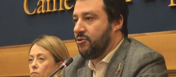 Salvini e Meloni Camera dei Deputati