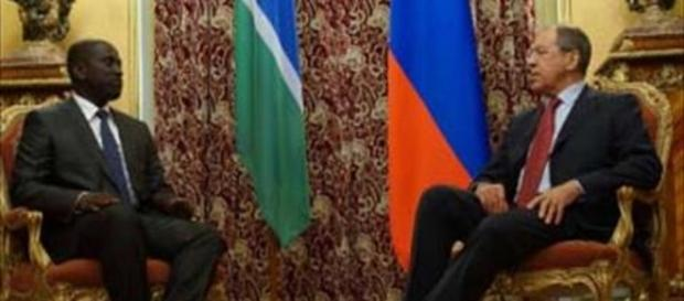 Former SG Momodou Sabally with Russian Foreign Minister / YouTube Screenshot, The Point