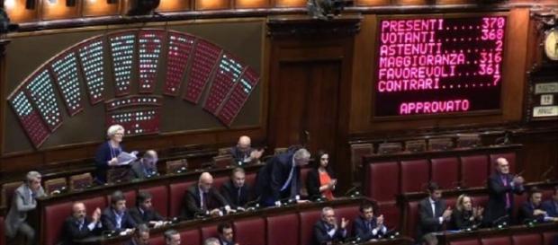 L'esito della votazione alla Camera del ddl Boschi