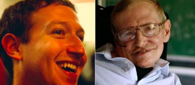 La strana coppia Stephen Hawking-Mark Zuckerberg