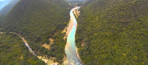 Foto aérea del Valle del Río Conca