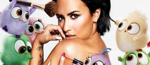 """Versão de Demi Lovato vai integrar a trilha sonora do filme """"Angrybirds""""."""