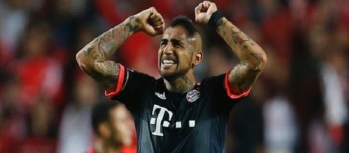 Vidal autor do primeiro gol do Bayern na partida