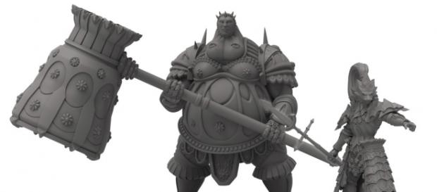 A prototype of the Dark Souls board game miniatures. (Credit: Steamforged Games via official site)