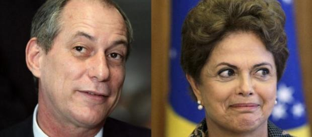 Ciro Gomes e Dilma - Foto/Montagem