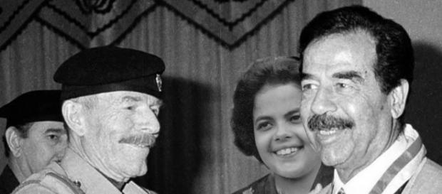 Dilma e Saddam: uma das postagem de página de humor