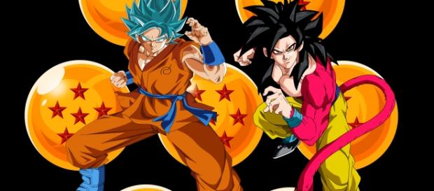 Goku en sus dos mejores tranformaciones de ambas series