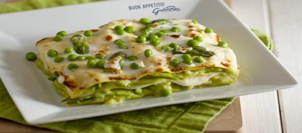 Lasagne con piselli e asparagi
